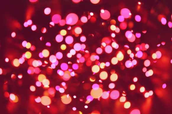 bokeh christmas lights illuminated lights